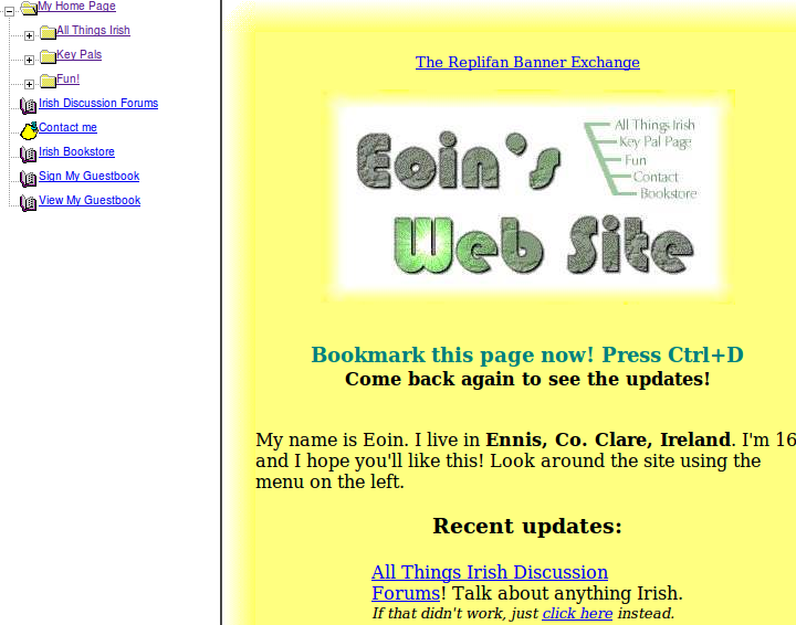 My old home page