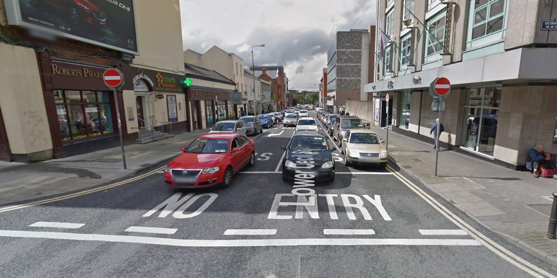 Lower Cecil Street in Limerick, Ireland.